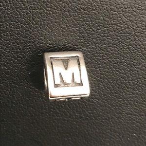 Authentic Pandora Letter M Charm